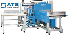 label-banding, securing labels with banding, automatic banding machine for narrow web or labels