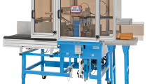 US-2000, ultra-sonic arch banding machine, transitline conveyors, automatic banding, paper banding, plastic banding