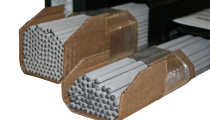 stretch film banded, wrapped welding rods