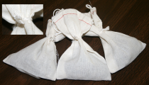 bulb bags, Tying, securing