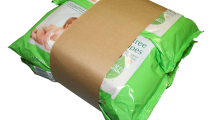 bundled wipes, healthcare packaging