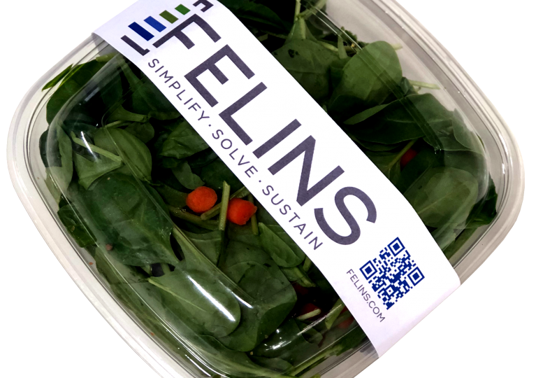 adhesive-free labeling and automatic sleeving of food products