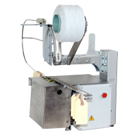 Tag-Tyer stainless steel machine for tying tags to food products