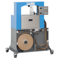 US-2100, wide format, ultra-sonic banding machine, paper banding, plastic banding, preprinted banding material