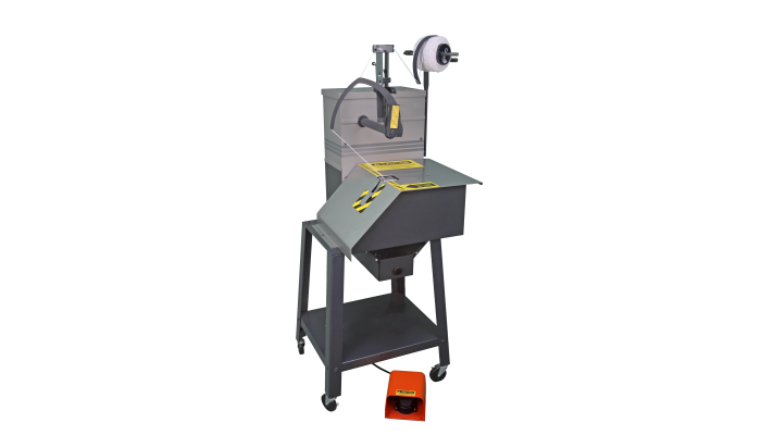 tying machine for coils, tubes, wires