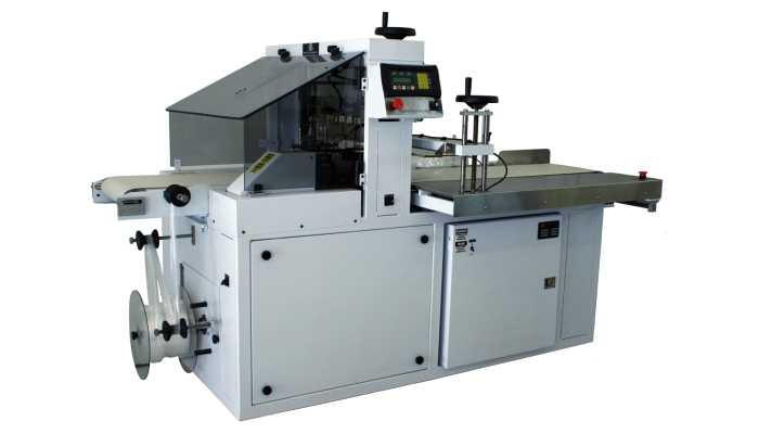 TP-150 machine for shrink wrapping food products