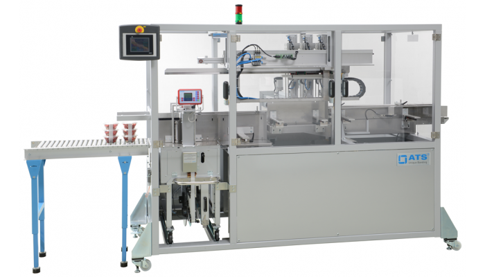 stainless steel, fully-automatic banding machine for the food industry